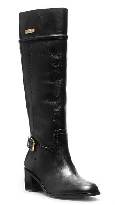 edeba822926 Amazon.com | Coach Women's Stacy Classic Riding Leather Boots Black ...