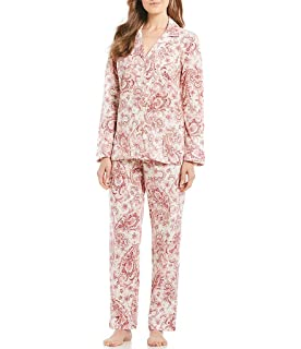 7e5cd473367 LAUREN RALPH LAUREN Women's Knit Notch Collar Pajama Set Multi ...
