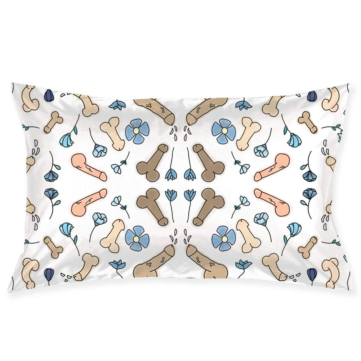 Amazon.com: JKEIL Pillow Case Penis Flower Printed Novelty ...