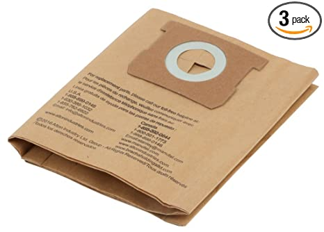 Original Manufacturer Filter Bags for Porter-Cable and Stanley 4 Gallon Wet/Dry Vacuum - 3 Pack