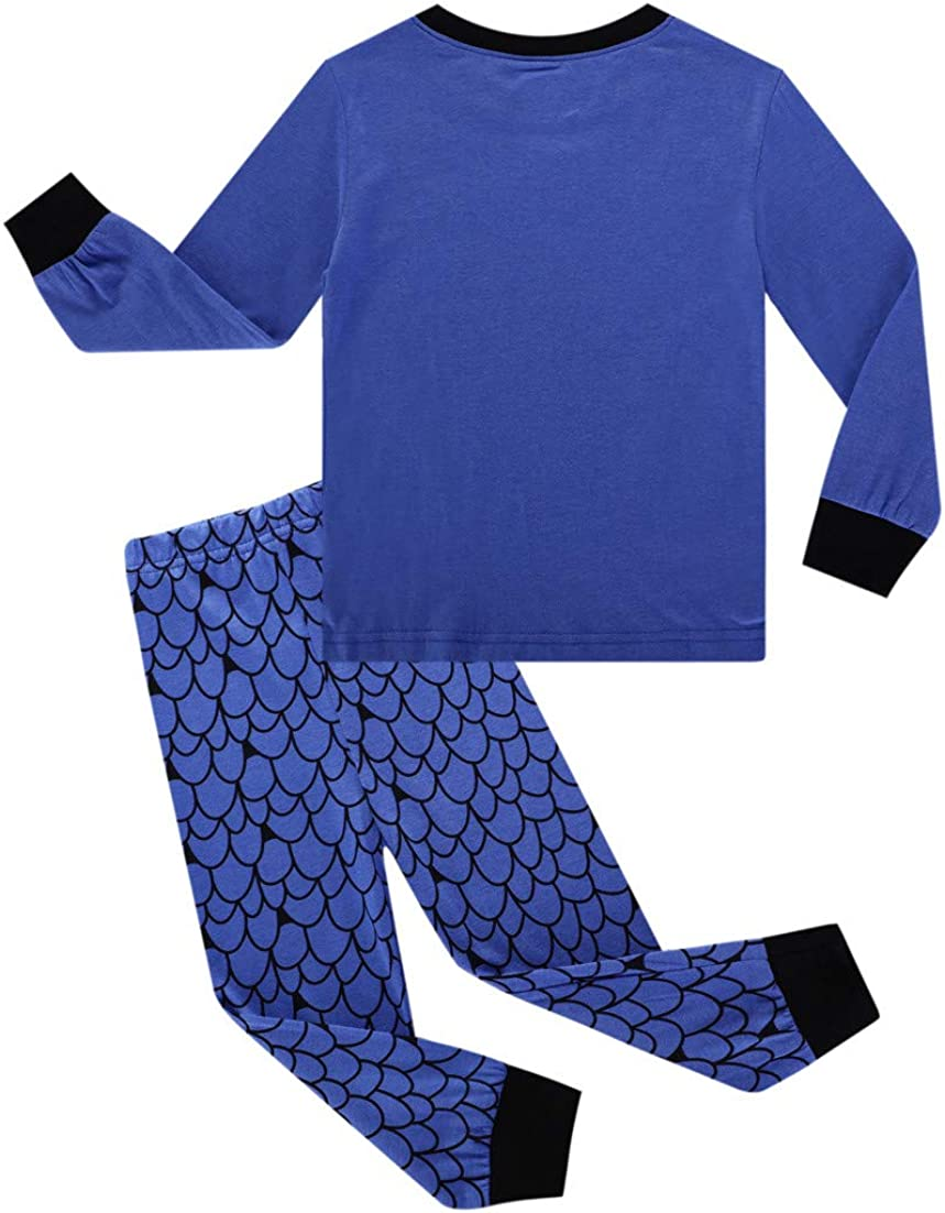 Fenverk 2Pc Jungs Pyjama Kinder Kleider Pjs Nachtw/äSche Zum LKW Dinosaurier Kind Kleinkind Lange /äRmel Einstellen Baby M/äDchen Karikatur Gedruckt Tops Hose Outfits 1Y-5Y