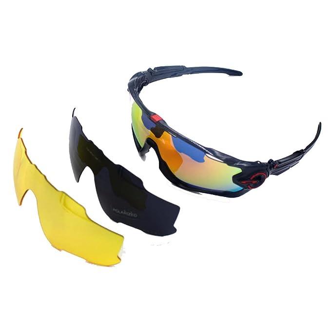 TZQ Gafas Polarizadas Gafas De Ciclismo Gafas De Esquí Gafas De Sol Deportes Moda Gafas Multiusos Aire Libre, A-OneSize: Amazon.es: Ropa y accesorios
