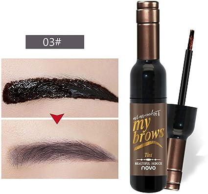 MOGOI Gel de cejas, crema de cejas teñida impermeable, semipermanente de larga duración, 7 días de crema de tinte para cejas, ideal para maquillaje de ...