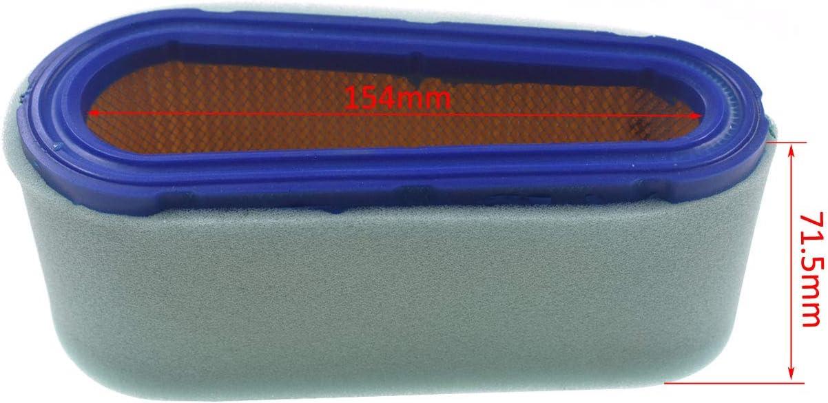Ruichang Luftfilter mit Vorfilter f/ür Briggs /& Stratton 272477 493910 691667 5075H 5075