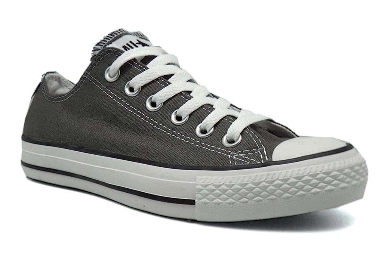 a73c8fb8e77 Amazon.com | Converse Chuck Taylor All Star Seasonal Ox Men Round Toe  Canvas Gray Sneakers (8.5 D(M), Charcoal) | Fashion Sneakers