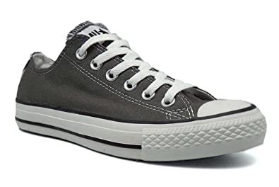 21307d881fa6c Converse Chuck Taylor All Star Seasonal Ox Men Round Toe Canvas Gray  Sneakers (8.5 D(M), Charcoal)
