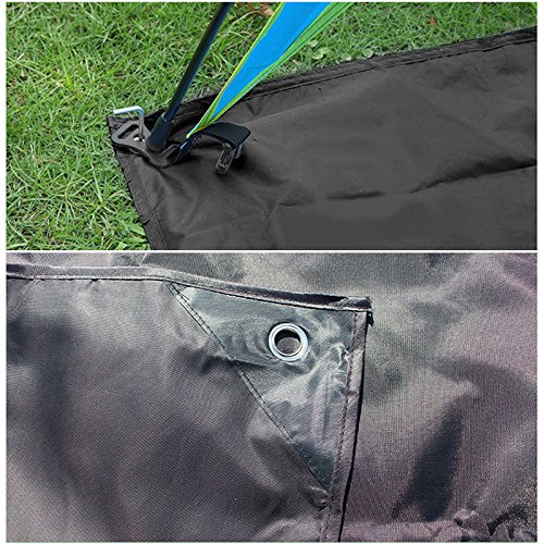 TechCode Picnic Camping Mat, Moisture-Proof Outdoor Beach Mat Groundsheet Tent Tarp, Waterproof Sand Proof Compact Tarp, Portable Lightweight Waterproof Camping Beach Mat for Camping, Hiking (Small)