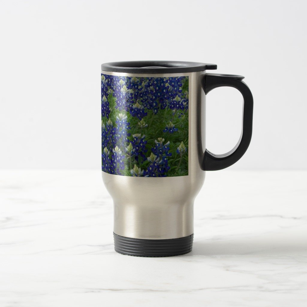 ZazzleテキサスBluebonnetsフィールド写真コーヒーマグ 15 oz, Travel/Commuter Mug e7b98841-e67c-d66c-b474-47b5c376311a B079DGWKBM  ステンレススチール 15 oz, Travel/Commuter Mug