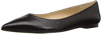 Sam Edelman Women's Rae Ballet Flat, Black Leather, 5 Medium US
