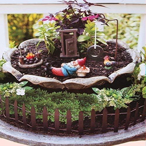 Country Garden Gnome Kit - Outdoor Safe Polystone Figurines]()