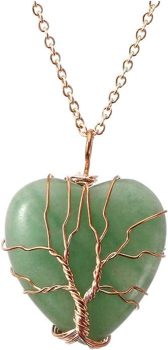 Green Solar Quartz Silver Quartz Pendant Healing Stalacite Green Crystal Necklace Green Gemstone Jewellery Multi Stone Pendant