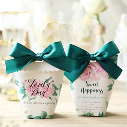 Amazon 10 Pcs Wedding Gifts Box Paper Candy Boxes Favor Diy