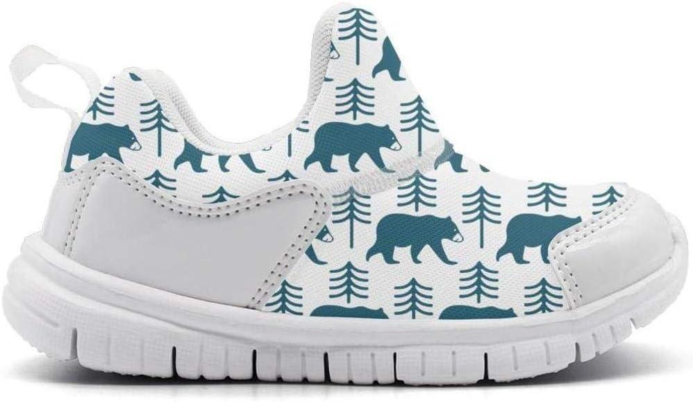 ONEYUAN Children Blue Snow Bear Stand Kid Casual Lightweight Sport Shoes Sneakers Running Shoes