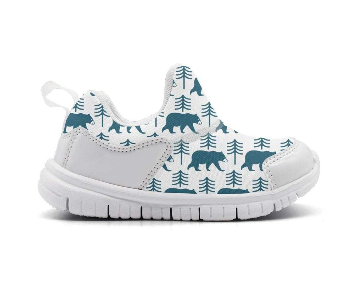 ONEYUAN Children Blue Snow Bear Stand Kid Casual Lightweight Sport Shoes Sneakers Walking Athletic Shoes