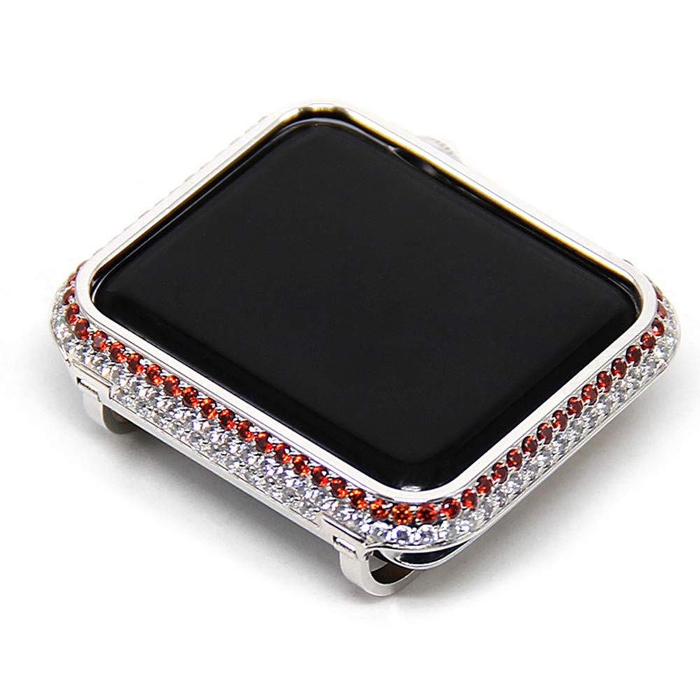 YALTOL for Iwatch/Apple Watch Series 4/3/2/1 Protection Frame with Rhinestone Diamond Metal Case Bezel,40mm,44mm,38mm,42mm,42mm