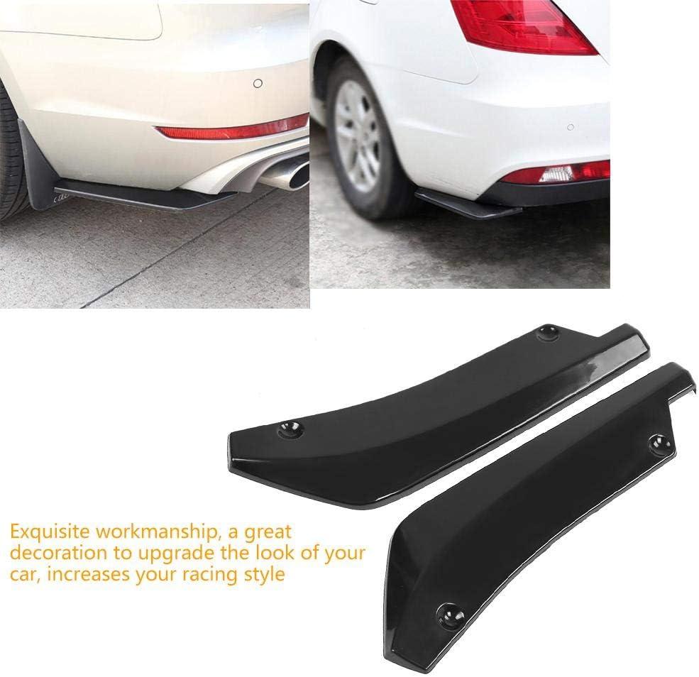 Qiilu Bumper Lip Splitter carbon fiber 1 Pair Universal ABS Car Modified Rear Bumper Canard Diffuser Spoiler Lip Fins