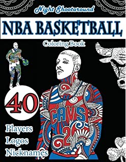 Amazon.com: Nba Allstar Coloring Book: Basketball coloring for Adult ...