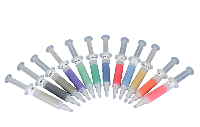 TEMO 12p 5gram Diamond Polishing Lapping Paste Compound Syringe Set 0.5-40 Micron