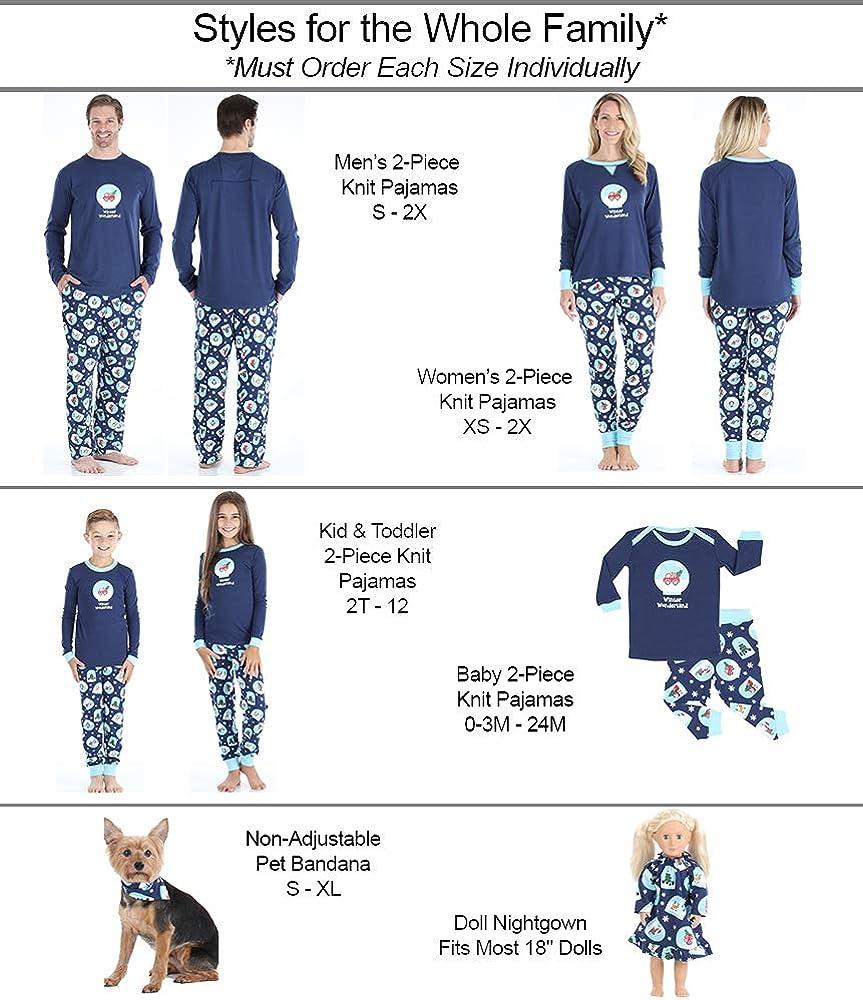 Sleepyheads Conjuntos de Pijamas navide/ños de Navidad con el Mundo de Las Maravillas del Mundo de Nieve
