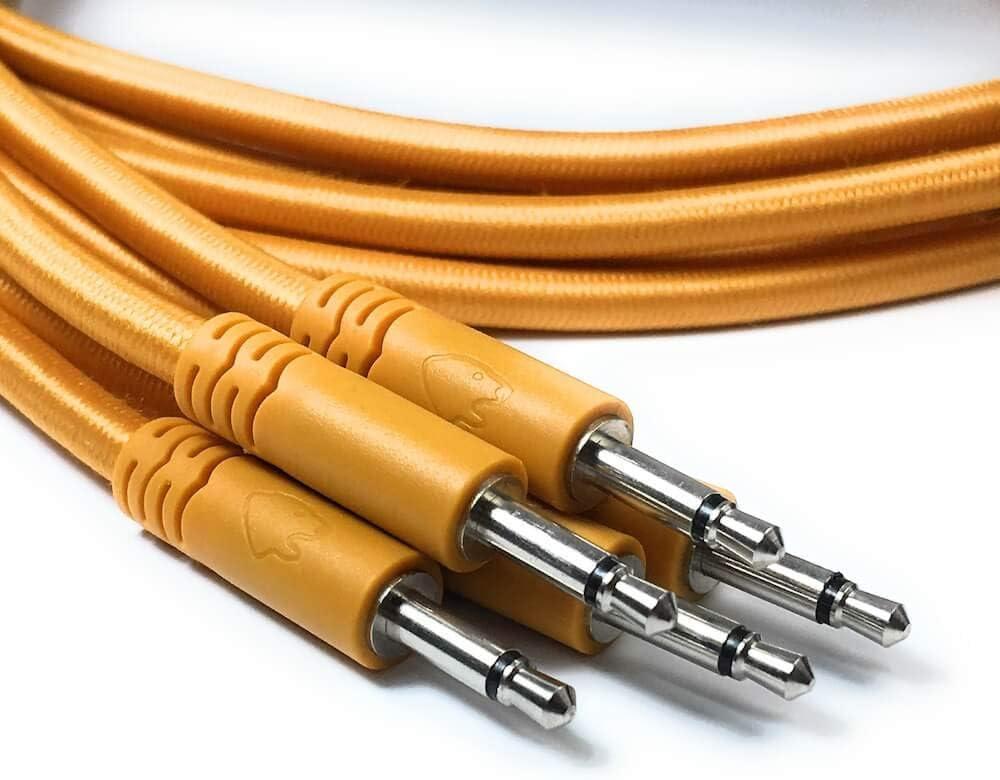 10 couleurs // 5 longueurs Ensemble de 5 c/âbles de raccordement mono tress/és de 3,5 /à 3,5 mm /à utiliser avec les synth/étiseurs modulaires C/âbles de raccordement Eurorack
