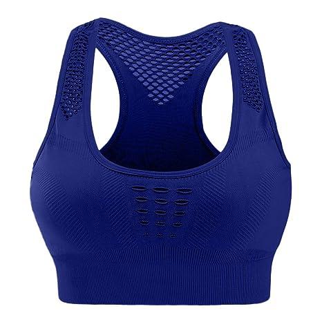 ZHANSANFM - Sujetador deportivo para mujer, color liso, sujeción ...