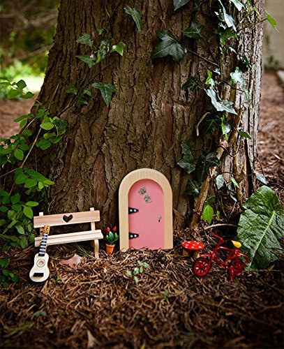 The irish fairy door company pink round door includes for Fairy door with key