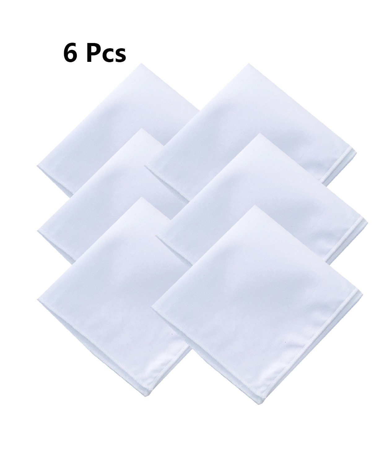 Men's White Cotton Handkerchief Pocket Square for suits