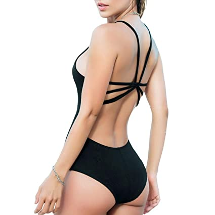 Mapalé Women Fashion One-Piece Monokini Bodysuit Summer Cute Swimsuits Sexy Bathing Suit Colombian Beachwear Traje de Baño Mujer Black S