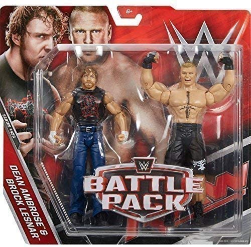 WWE Pack de Lucha Serie 43.5 Figura de Acción - The Beast Brock Lesnar vs Dean Ambrose Lleva Camiseta: Amazon.es: Juguetes y juegos
