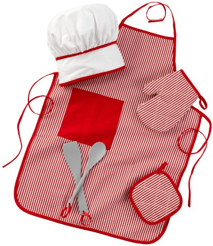 [KidKraft Tasty Treats Chef Accessory Set - Red] (Chef Costumes For Kids)