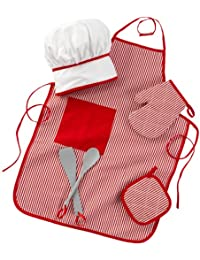 KidKraft 63197 Tasty Treats Chef Accessory Set, Red
