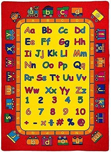 Mybecca Kids Rug ABC Fun Area Rug 3′ x 5′ Children Area Rug for Playroom & Nursery – Non Skid Gel Backing 39″ x 58″