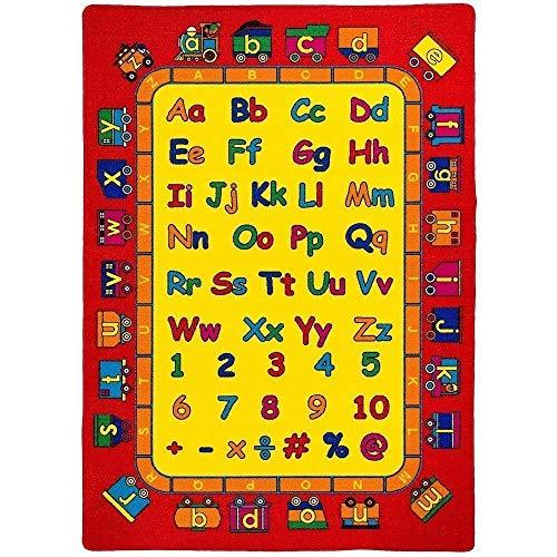 3 x 5 Mybecca Kids Rug Kids ABC Little Artist Area Rug Educational Alphabet Letter /& Numbers