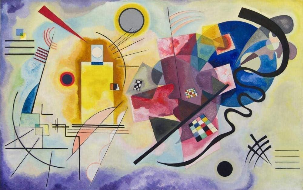 : 30x40cm HXLFYM Kunst Leinwand Malerei Gelb-Rot-Blau Von Wassily Kandinsky /Ölgem/älde Auf Der Wand Ber/ühmten Kunstwerk Reproduktionen Leinwand Kunstdruck Wanddekoration Size Inch