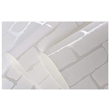 Amovible Peel Et Baton 3d Blanc Brique Rouleau De Papier Peint