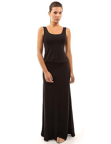 PattyBoutik Women's Sleeveless Blouson Maxi Dress
