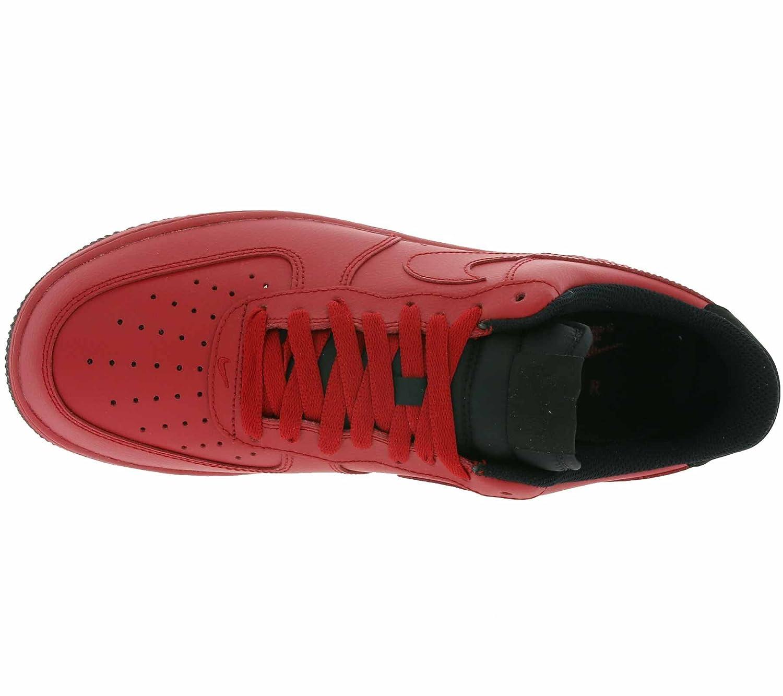 NIKE Air Force 1 '07 Véritable sneaker en cuir pour hommes rouge 315122 613, Taille:45.5