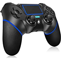 Wireless Controller for PS4 Ainoibo Wireless Controller for PS4/Pro/Slim, Touch Panel Gamepad with Double Vibration and…