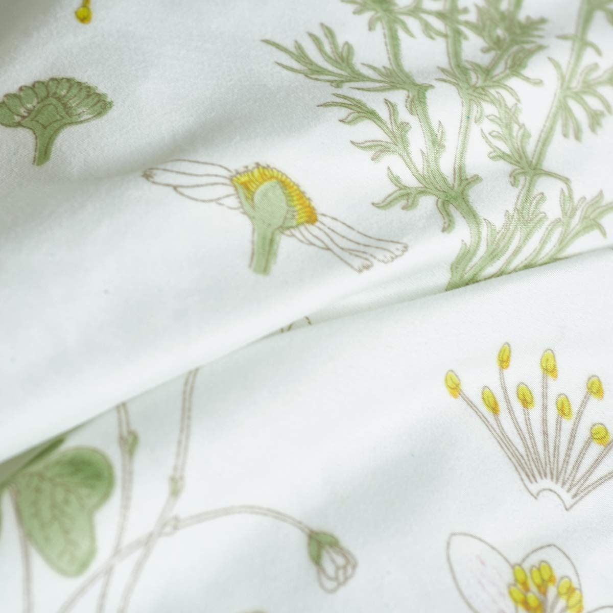 3 PCs Botanical Duvet Cover Set, Modern Flowers Printed Boho Comforter Cover Bedding Sets with Zipper Ties by Smoofy (Image #6)