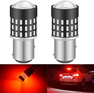 2Pcs Red super bright cob car waterproof 12v led light drl fog driving lamp q P0