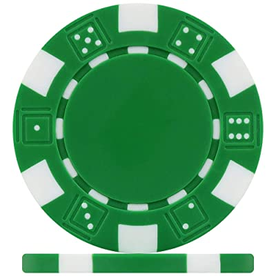 Premier Poker Chips UK - Green Dice 12g Poker Chips (Roll of 25): Juguetes y juegos
