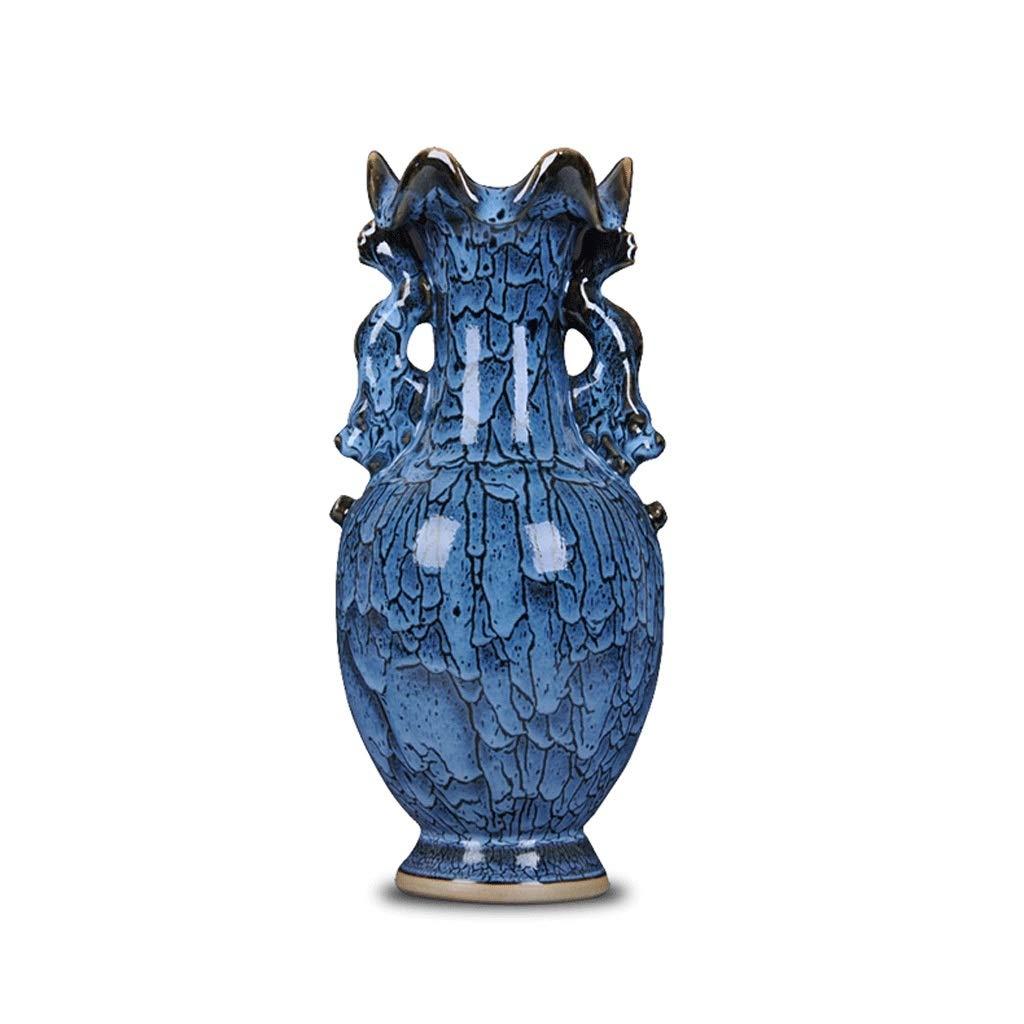 古代の棚の装飾エナメル花瓶アンティークリビングルームの装飾観音ボトル anQna B07SM94DLJ