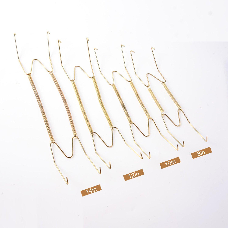 4 Pezzi 4 Formati Ganci Piatti da Parete Appendiabiti Decorativo Supporto per Piatti e 4 Pezzi Ganci da Parete