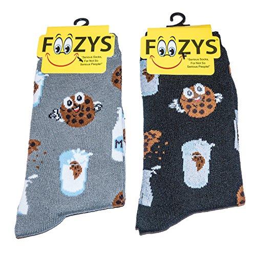Foozys Women's Crew Socks - 2 pk (Milk & Cookies)