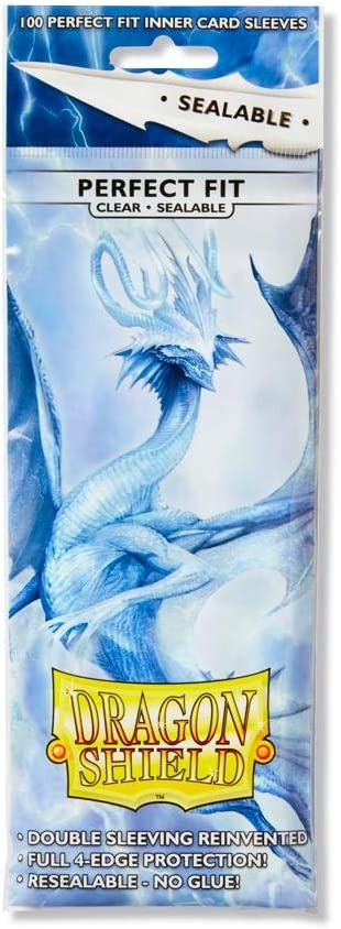 Dragon Shields SEALABLE CLEAR PERFECT FIT 100 ct sleeves MAGIC POKEMON MTG BOX