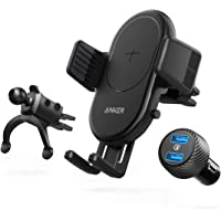 Anker PowerWave 7.5W & 10W Quick Charge Wireless Car Charger for iPhone & Samsung with Air Vent Phone Holder