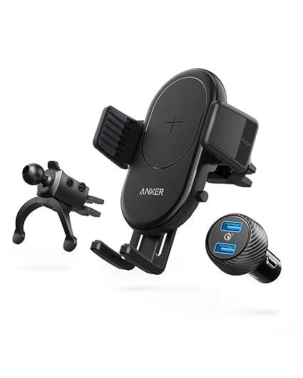 Amazon.com: Anker PowerWave - Cargador de coche inalámbrico ...