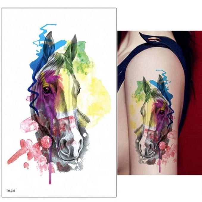 adgkitb 3 Piezas Falsos Tatuajes temporales Pegatinas Rosas Flores ...