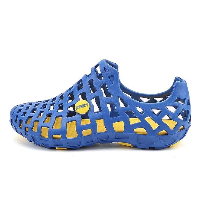POLP Sandalias y Chancletas Zapatos de Plataforma Plana Costura Peep Toe Sandalias de Cerrojo Playa Zapatos