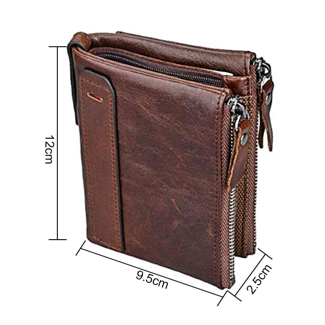 Monedero para hombres Monedero de cuero Grand Slim Wallet Pink Schleife® Crédito multifuncional Monedero Diseño de negocios Especialmente para hombres ...